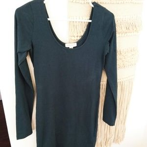 Blue/Green Tunic Dress Size Large Long Sleeves
